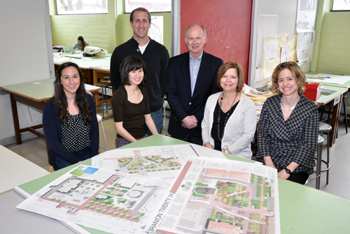From left: Sarah Taslimi, Kathleen Corey,Ben Vander Veen, Don O'Leary, Prof. Cecelia Paine and Jill Vigers.