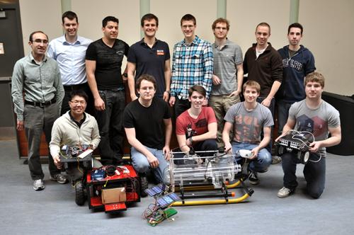 Members of the U of G Robotics Team