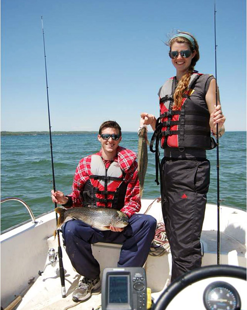 Jeremy Ramshaw and Tina Deenik go fishing.