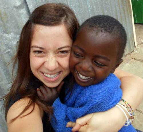 Amy Faria in Kenya