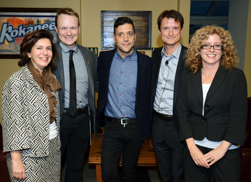 From left:  Gawaher Atif, Evan Fraser, George Stroumboulopoulos, Sylvain Charlebois and Julia Christensen-Hughes.