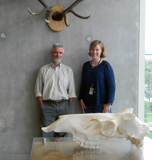 Doug Campell and Prof. Claire Jadeine