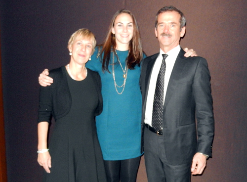 From left, Helene, Kelly and Chris Hadfield