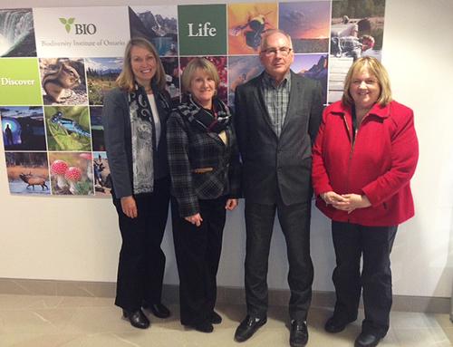 From left: Sherri Cox, Martine Dubuc, Paul Hebert and Karen Jessett.