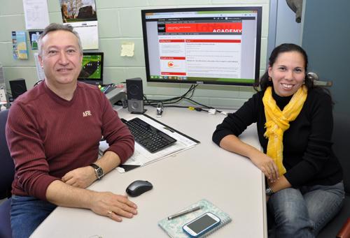 Bill Lachowsky and Romina Zanabria