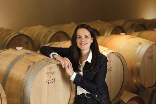 University of Guelph graduate Katie Dickieson is a winemaker at Peller Estates Winery.