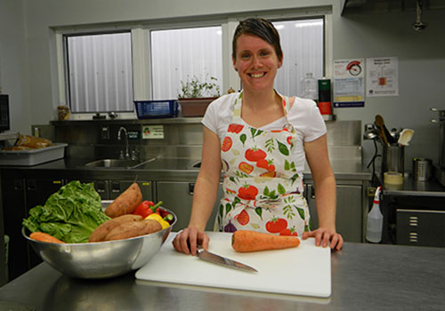 Jacquie Bull is the chef at the University of Guelph's Child Care and Learning Centre.