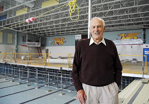 Guelph professor emeritus Jim Stevens, a lifelong member of the university's athletics centre, is looking forward to when the revamped facility opens in 2016.
