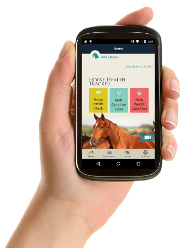Equine Guelph's Horse Health Tracker app.