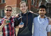 Justin Gruber, Nic Durish and Aftab Ahmad.