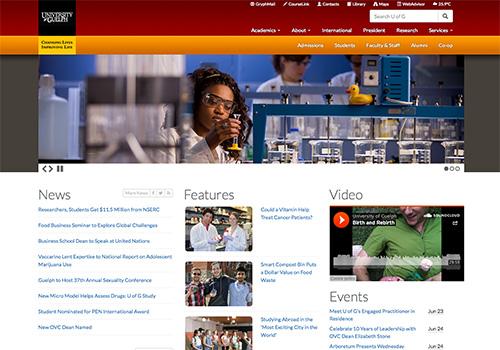 U of G Homepage Gets New Look