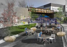 University of Guelph students redesign Guelph's Wilson Street underpass into temporary pedestrian-friendly promedade