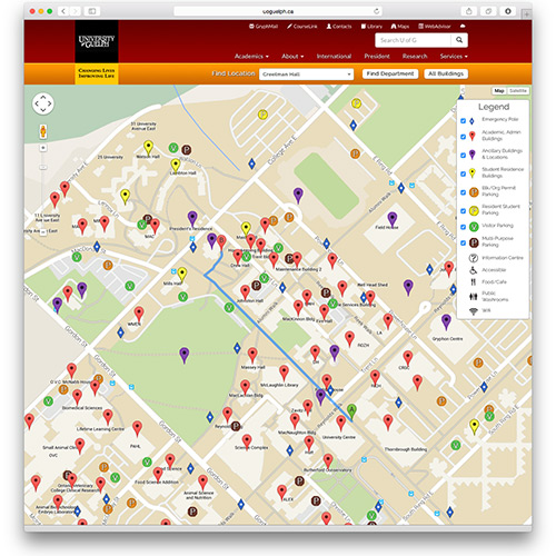 U Of G Gets New Online Map U Of G News - Guelph map