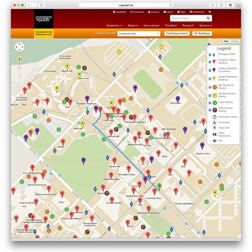 U of G Gets New Online Map U of G News