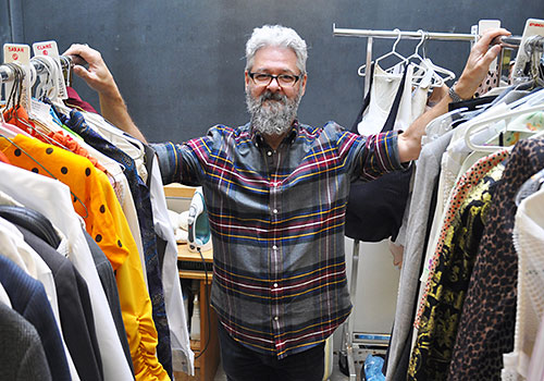 Denis Huneault-Joffre at the University of Guelph costume department.