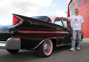 Brad Hanna will lecture about his DeSoto classic car in an fundraiser for the Unviersity of Guelph's United Way campaign.