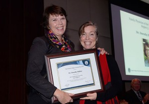 Dr. Dorothy Bakker wins award