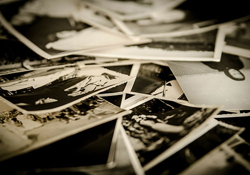 Old photos and research into scrapbooking at the University of Guelph