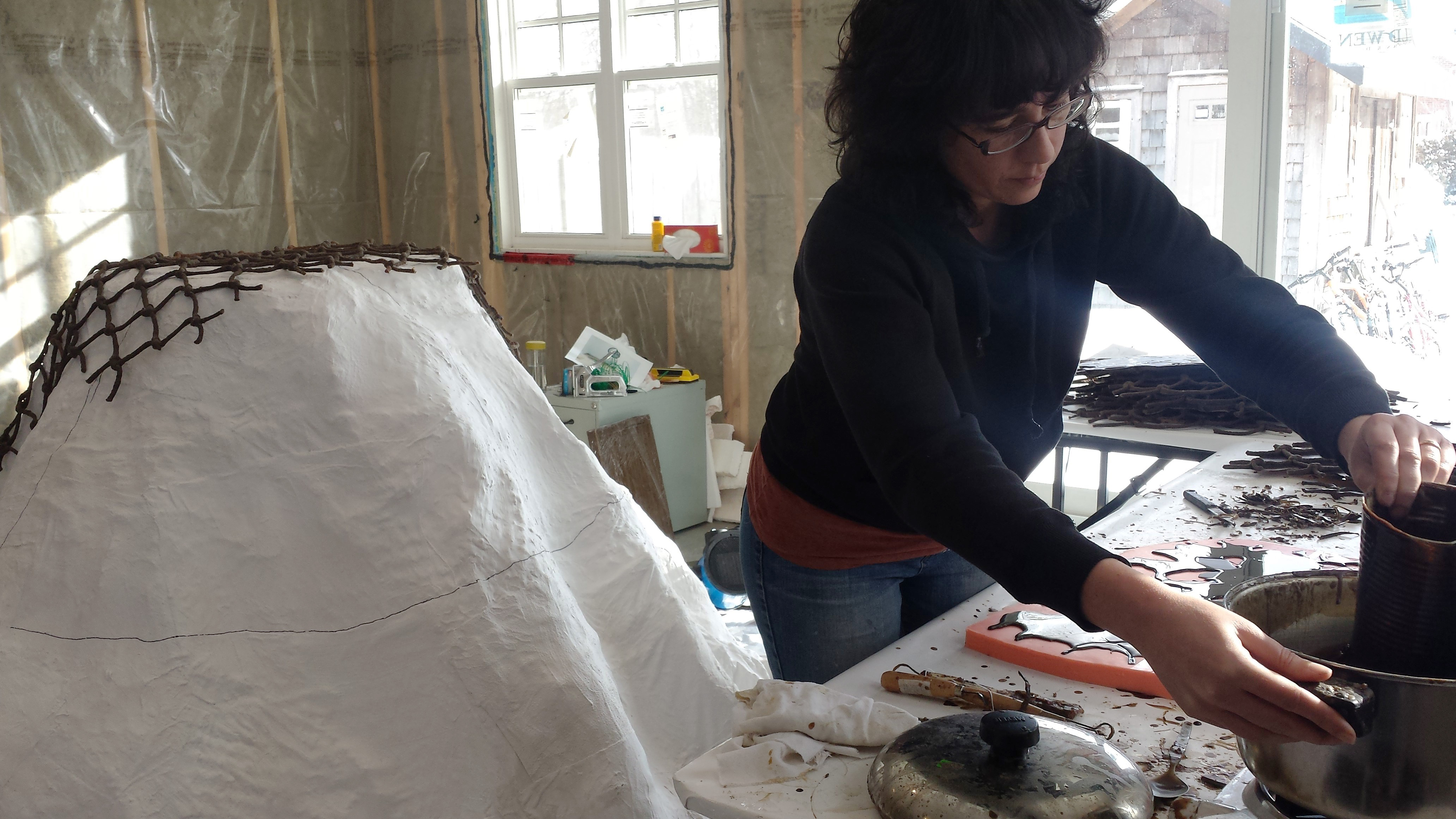 University of Guelph artist in residence Annie Dunning.