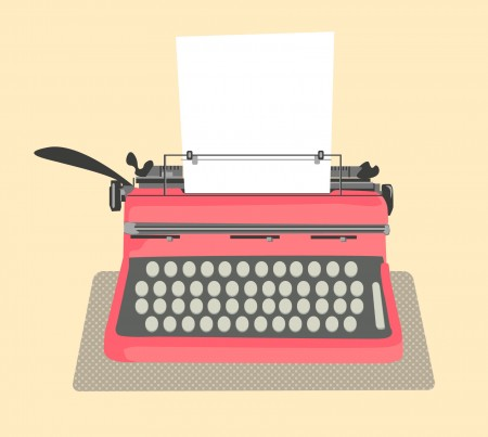 typewriter illustration