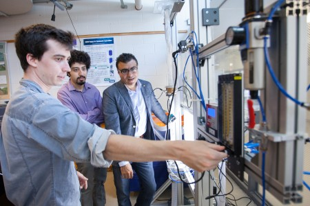 Wael Ahmed, in a lab at the University of Guelph.
