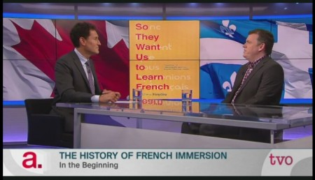 The Agenda host Steve Paikin and Prof. Matthew Hayday