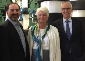 Glenn Thibeault, Liz Sandals and Franco Vaccarino