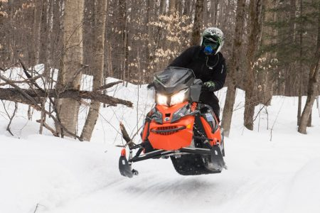 Snowmobile research at the University of Guelph.