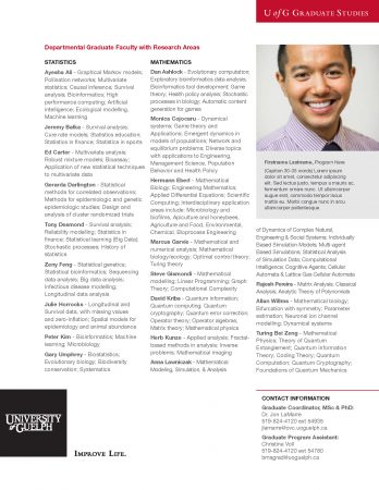 Example of one-pager layout featuring male student