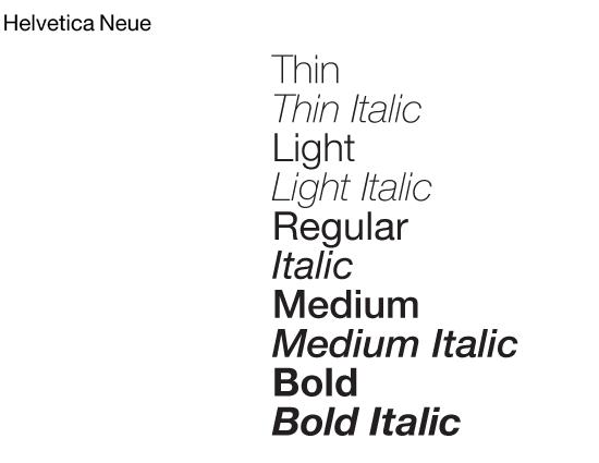 Helvetica Neue Font Example