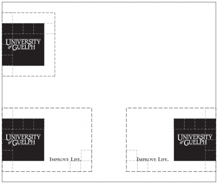Illustration showing suggested placement of Cornerstone in upper right and lower right and left