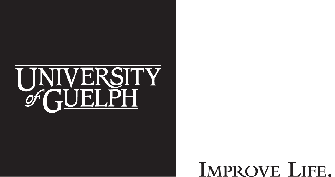 University of Guelph Cornerstone with IMPROVE LIFE. tagline to right