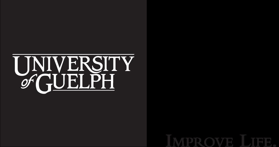University of Guelph Cornerstone logo with IMPROVE LIFE. tagline