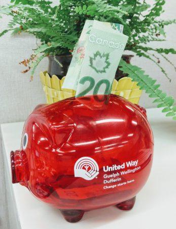 United Way piggy bank