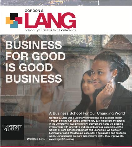 Lang Globe and Mail Advert