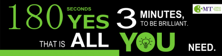 3 Minute Thesis Banner - 180 seconds is all you need to be brilliant