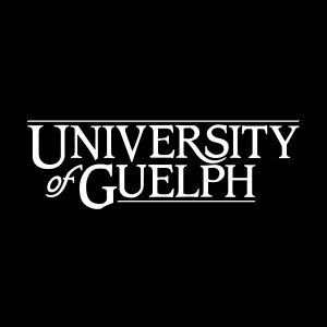 University of Guelph cornerstone - white text on black background
