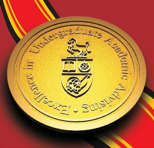 Excellence in Undergraduate Academic Advising Medallion