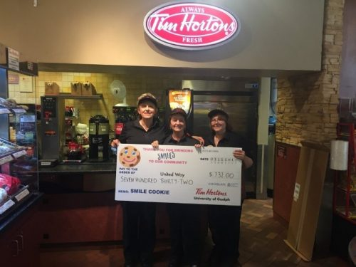 Hospitality Staff sell Tim Hortons Smile Cookies