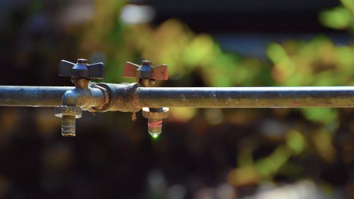 Water taps outdoors