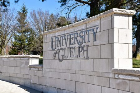 University of Guelph entrance wall