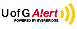 U of G Alert logo