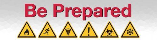 Be Prepared - image of hazard icons