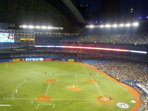 image of the Toronto Bluejay's baseball diamond