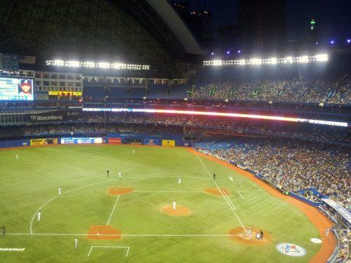 image of the Toronto Bluejay's baseball diamond