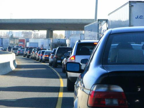 rush hour traffic in Toronto