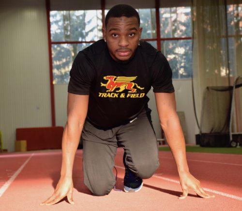 Gryphon sprinter in set position