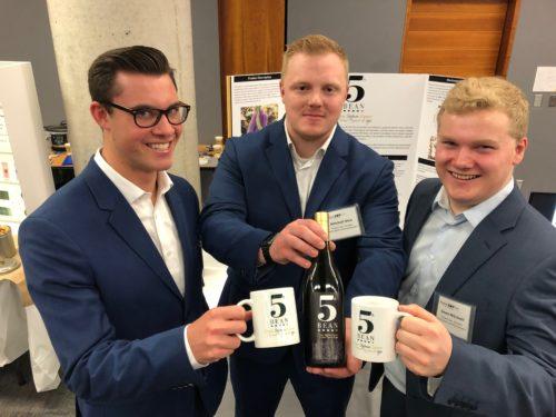 a photo of the 3 creators of the soybean cream liqueur, 5th Bean