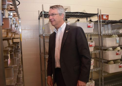 Guelph MP in a laboratory