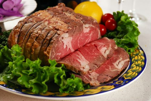 a photo of roast beef